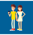 Couple Characters vector image vector image