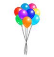 creative air balloon in bundle realistic design vector image vector image