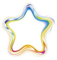 decorative frame of stylized rainbow star vector image vector image