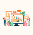 digital marketing social media analysing vector image