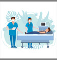 doctor and nurse in antiviral face mask and vector image vector image