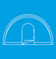 dome camping tent icon outline style vector image vector image