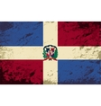 Dominican Republic flag Grunge background vector image vector image