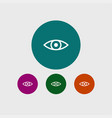 eye icon simple vector image vector image