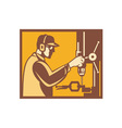 Factory Worker Operator vector image vector image