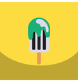 flat icon design collection ice cream vector image vector image