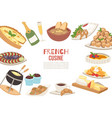 french cuisine french cheese vector image vector image