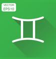 gemini zodiac sign icon business concept vector image vector image
