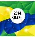 Geometric Brazil 2014 background vector image vector image