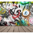 Graffiti on wall vector image