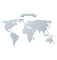 gray world map vector image