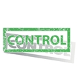 Green outlined CONTROL stamp vector image