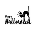happy halloween party title logo template spider vector image vector image
