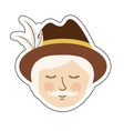 Isolated oktoberfest icon of germany culture vector image vector image