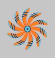 marine propeller fan wind ventilator vector image vector image