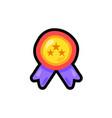 medal cartoon color sticker vector image