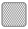 metal fence wire mesh vector image vector image