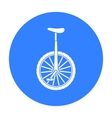 Monocycle icon in black style isolated on white vector image vector image