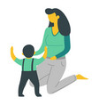 mother and son isolated characters woman and baby vector image vector image