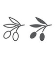 Olives line and glyph icon vegetable
