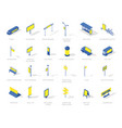 out-of-home outdoor advertising isometric icons vector image vector image