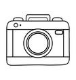 photographic camera icon black and white vector image