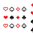 playing card suits icon set isolated vector image