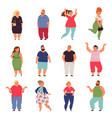 plus size people big woman chubmodels vector image
