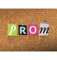 Prom Concept vector image vector image