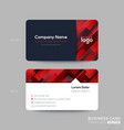 red business card membership card vip club card vector image