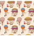 retro air hot balloons seamless children vector image