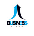 rising arrow company increasing concept business vector image