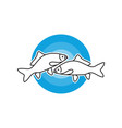 sea fish outline modern logo vector image vector image