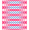 Seamless love pattern Pink hearts and blue squares vector image vector image