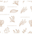 seamless pattern with corals and seaweeds vector image vector image
