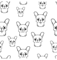 Seamless pattern with french bulldog puppies vector image