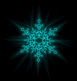 Self-illuminated snowflake vector image vector image