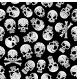 Skeleton skulls seamless pattern background vector image vector image