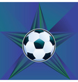 Soccer Ball on Rays Background8 vector image