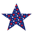 star with star pattern vector image vector image