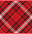 tartan plaid pattern in red print fabric texture vector image