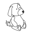 teddy dog toy icon vector image vector image