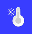 thermometer temperature emblem snowy day weather vector image
