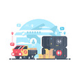 transportation and logistics vector image vector image