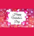 valentines day with colorful hearts background vector image vector image