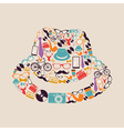 Vintage hipsters icons hat vector image