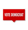 vote democrat red tag vector image vector image