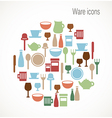 Ware icons vector image vector image