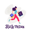 young woman carrying shopping bags with purchases vector image vector image