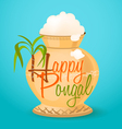 happy pongal greeting vector image